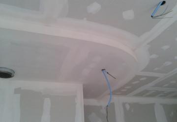 Retombee de plafond cintree