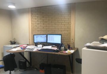 Murs en BTC côté bureau