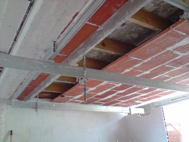 Plafond en brique